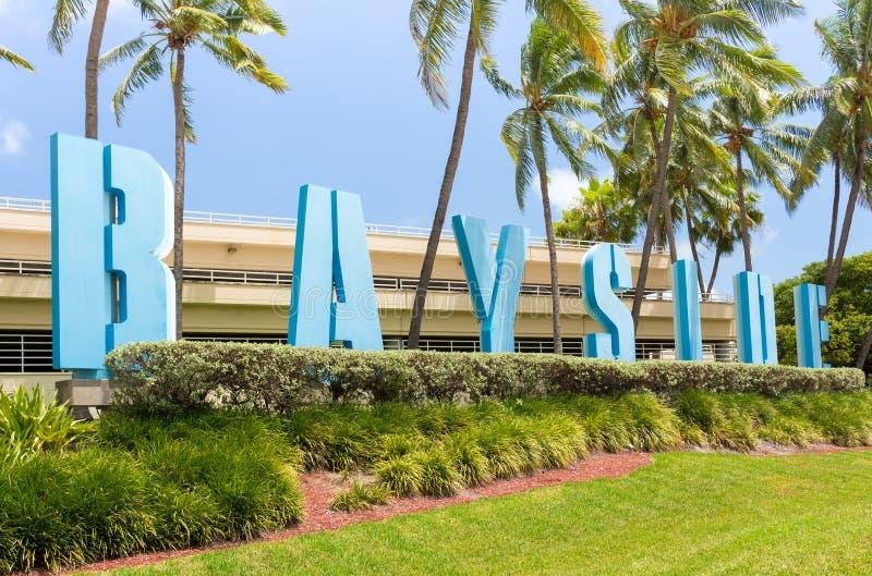 O mercado de Bayside em Miami foto de stock royalty free