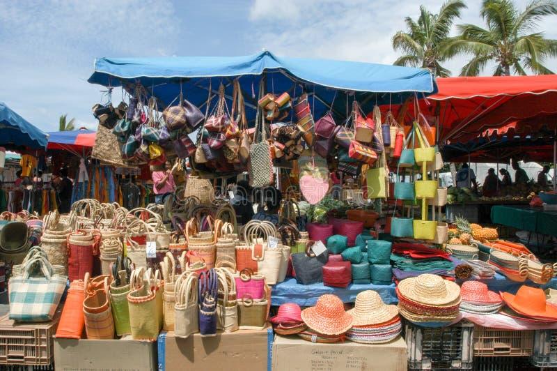 O mercado de Saint Gilles no La Reunion Island, França imagem de stock