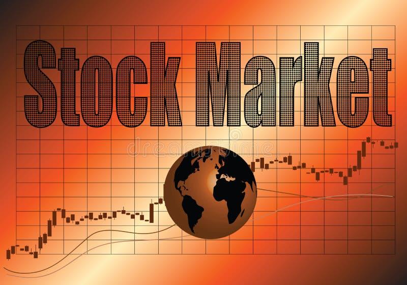 O mercado de valores de ação ilustração royalty free