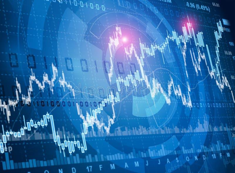 O mercado de valores de ação cita a carta ilustração do vetor