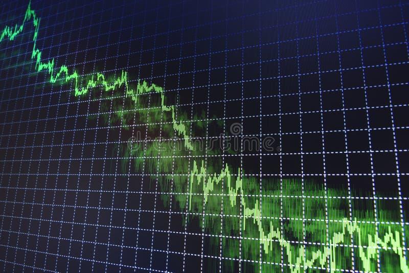 O mercado de valores de ação cita o gráfico imagem de stock
