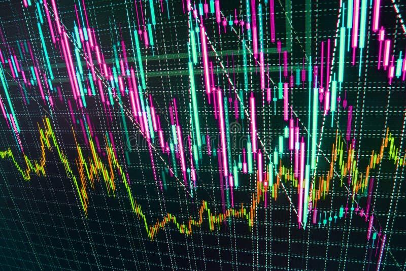 O mercado de valores de ação cita o gráfico ilustração do vetor