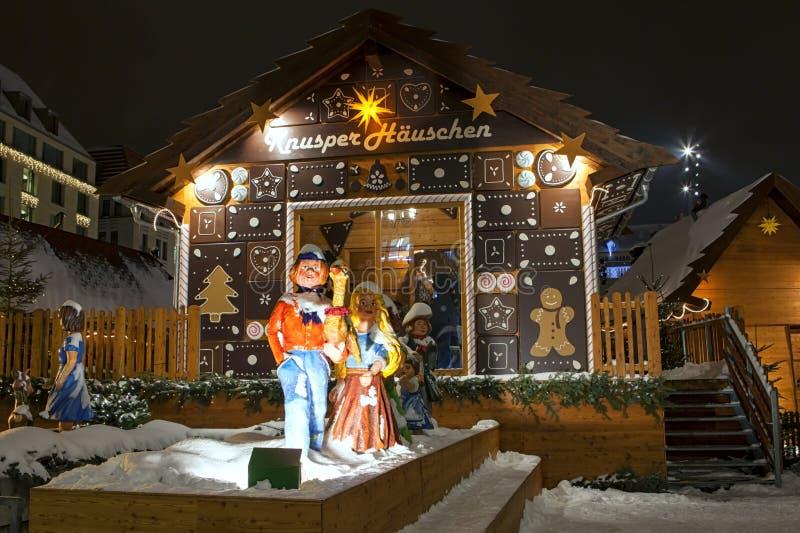 Mercado do Natal em Dresden imagens de stock royalty free