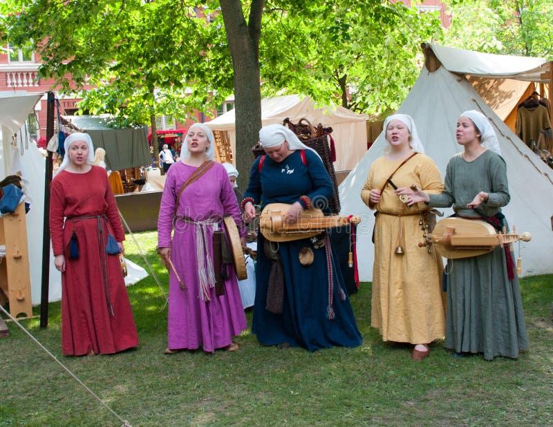 O mercado medieval em Turku imagens de stock royalty free