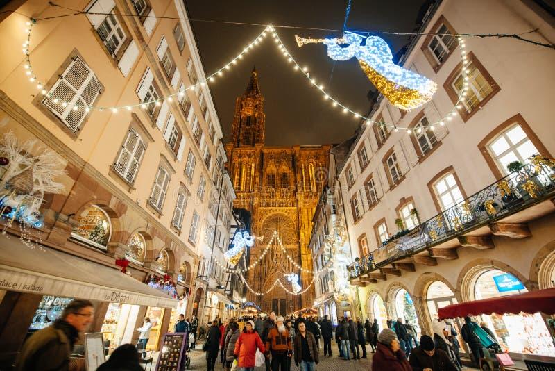 O mercado o mais velho do Natal em Europa - Strasbourg, Alsácia, Fran imagem de stock royalty free