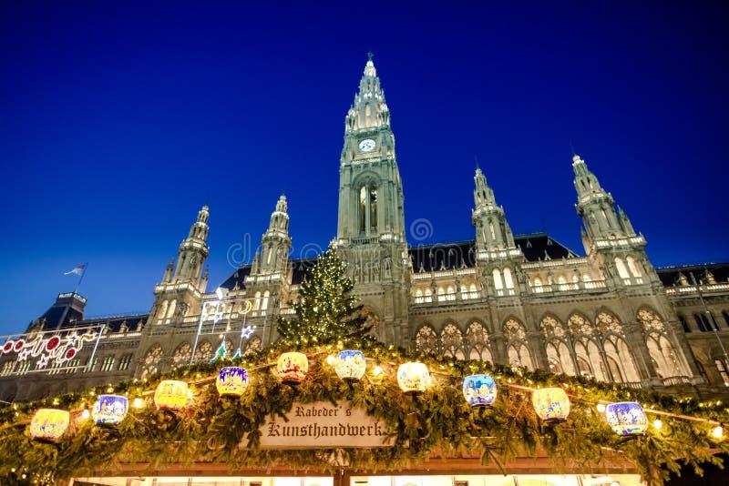 O mercado tradicional do Natal em Viena foto de stock royalty free