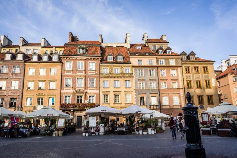O mercado velho da cidade em Varsóvia imagens de stock royalty free