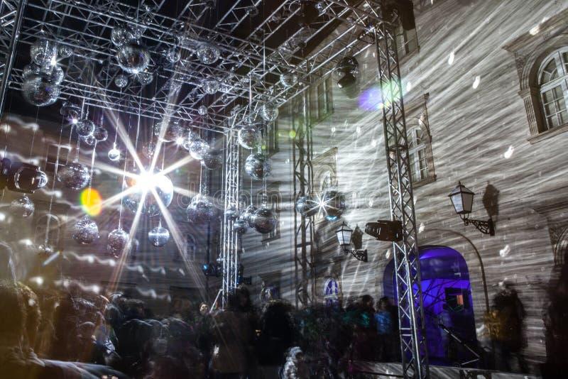 """16o mercado 2018 Zagreb, festival do †da Croácia """"da luz em Zagreb imagem de stock royalty free"""