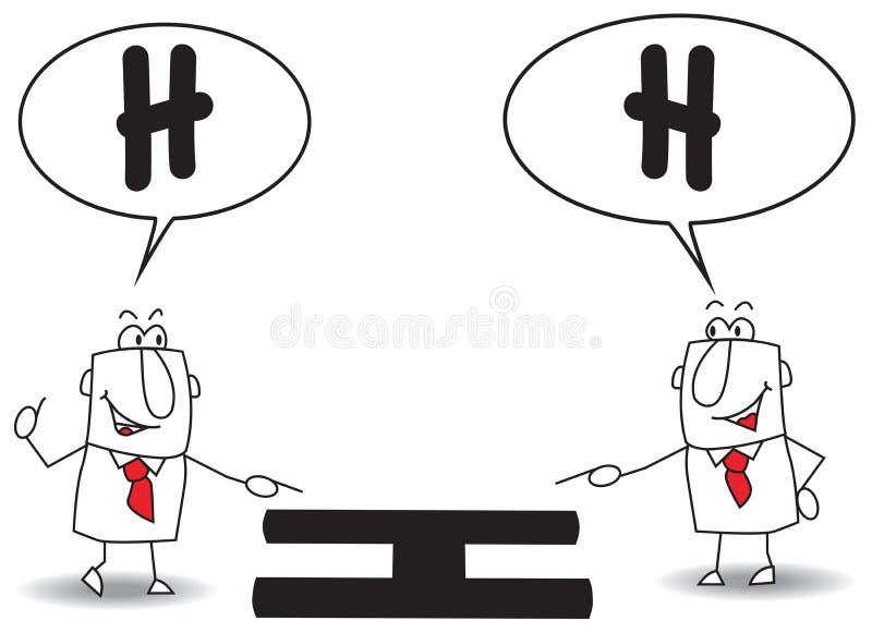 O mesmo ponto de vista ilustração do vetor