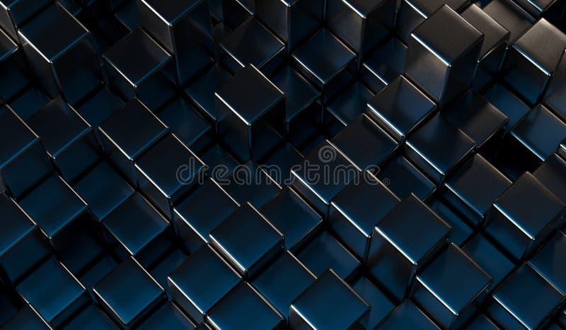 O metal abstrato cuba o fundo ilustração royalty free
