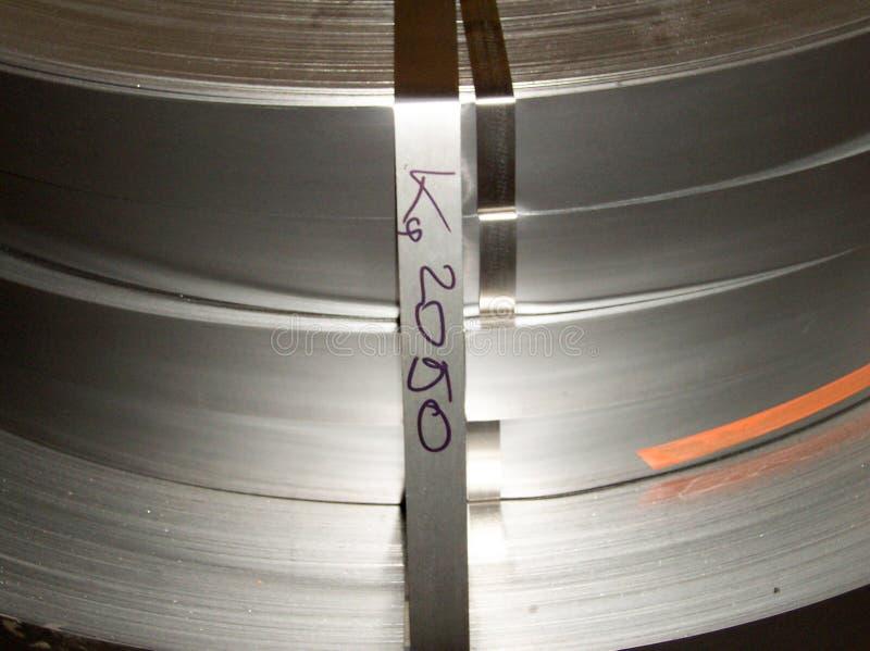 O metal bobina a planta Ambiente industrial imagem de stock