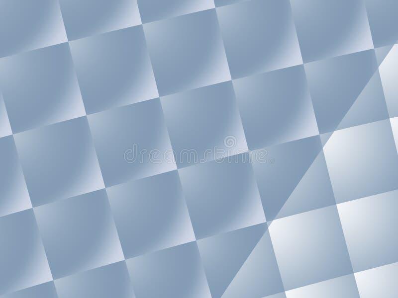 O metal esquadra o fundo com os testes padrões diferentes dos quadrados ilustração do vetor