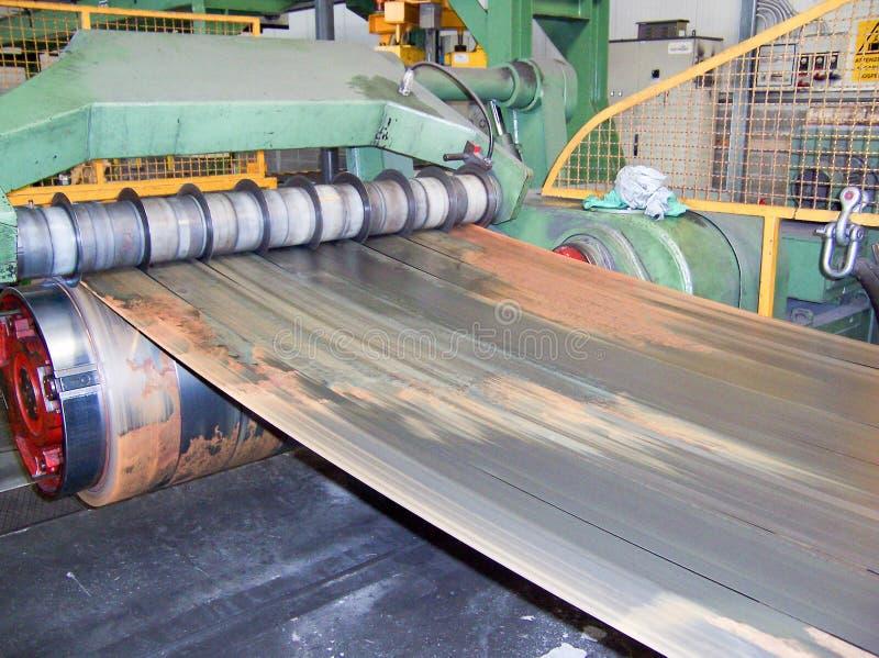 O metal industrial bobina a máquina do cortador foto de stock royalty free