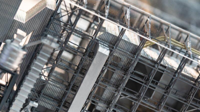 O metal montou com modelo da construção imagem de stock royalty free