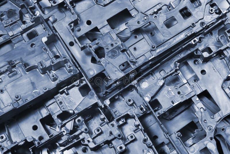 O metal morre partes do molde - fundo industrial abstrato fotos de stock