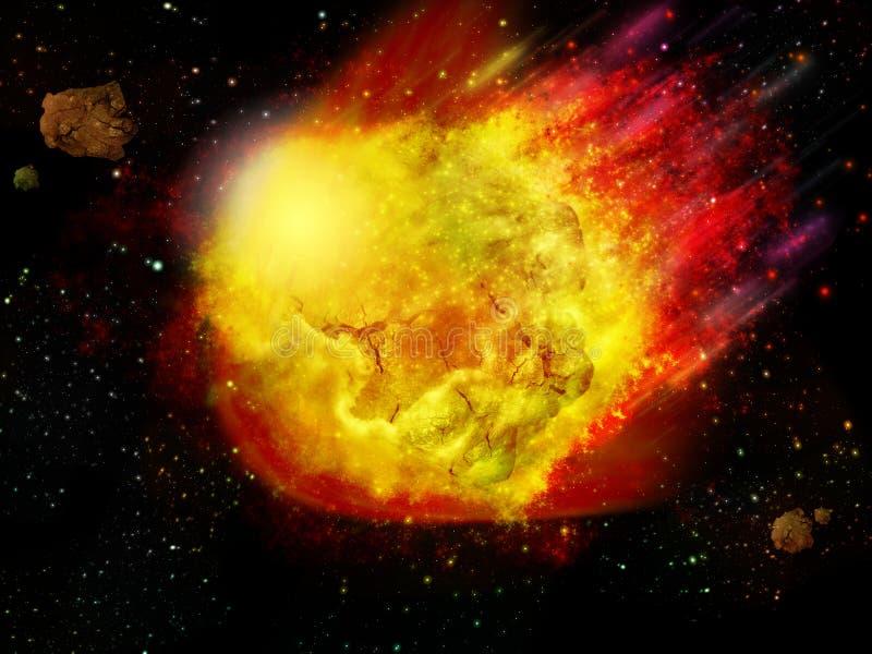 O meteoro ilustração stock