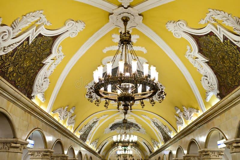 O metro de Moscou foto de stock