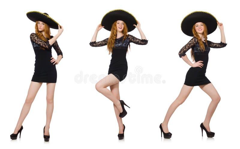 O mexicano engraçado com chapéu do sombreiro fotos de stock royalty free