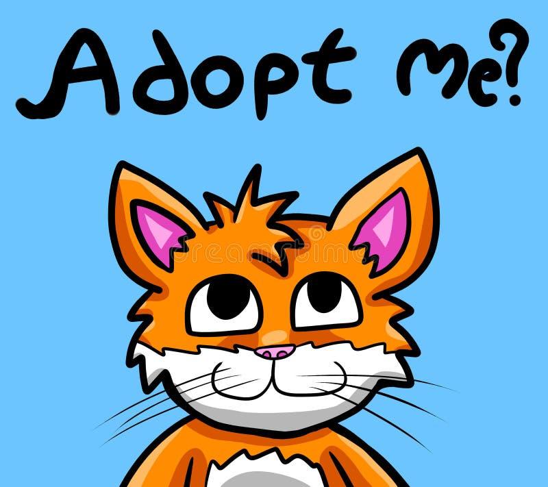 O miado adota-me por favor! ilustração royalty free