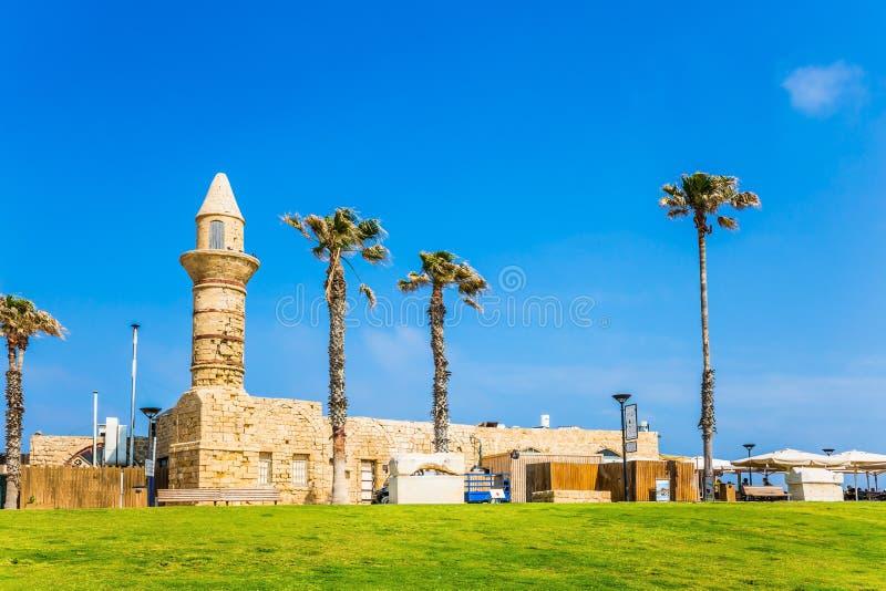 O minarete restaurado fotos de stock royalty free