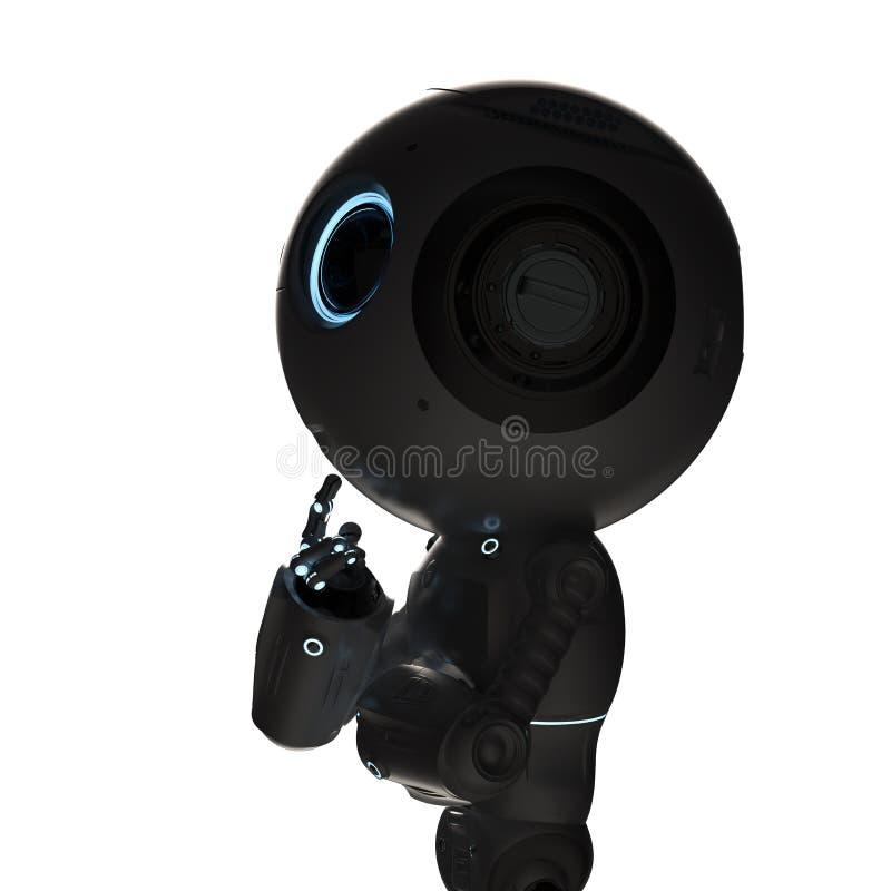 O mini robô pensa