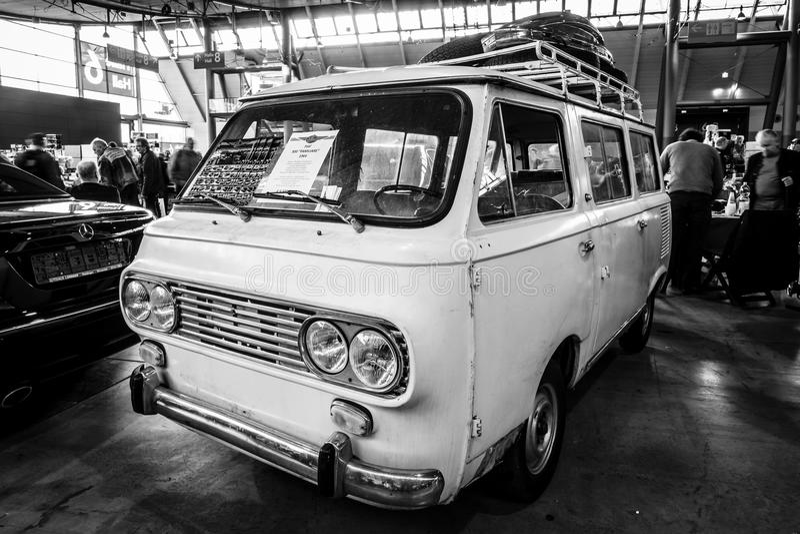 O minibus Fiat 850 Familiare, 1964 imagens de stock