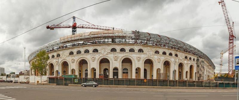 O Minsk Bielorrússia Estádio do dínamo Panorama imagens de stock