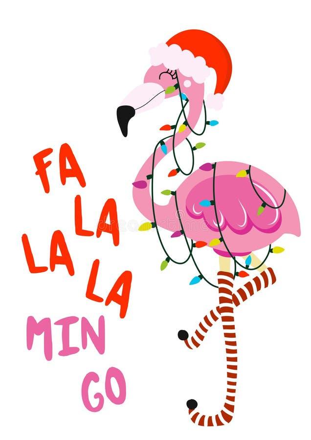 O minuto do la do la do la do fá vai - frase da caligrafia para o Natal ilustração royalty free