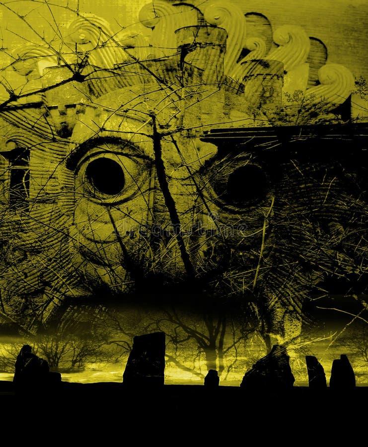 O mistério dos Druids ilustração do vetor