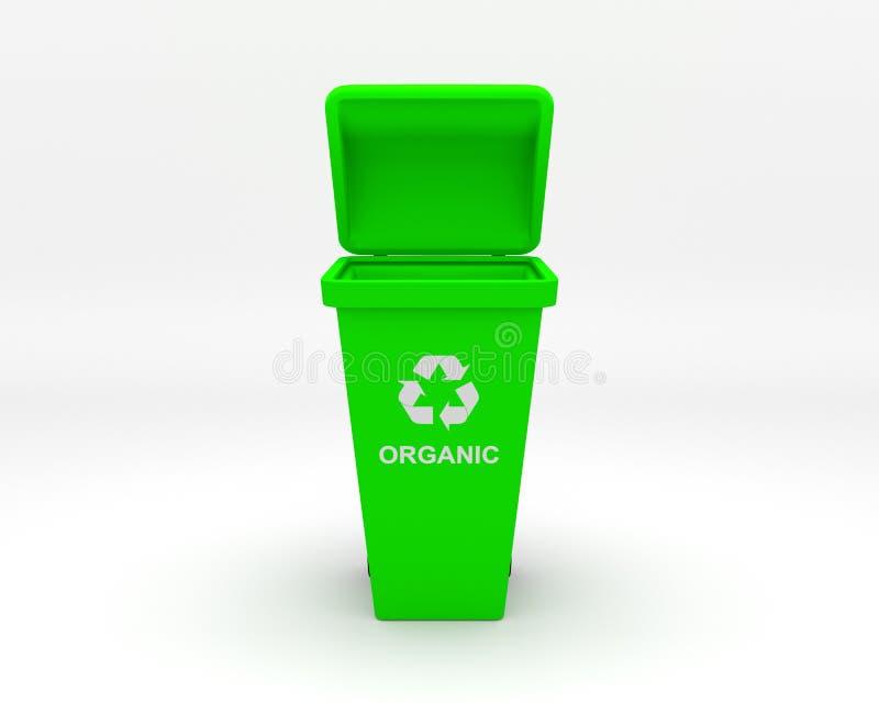 O modelo da reciclagem 3d rende no fundo branco ilustração do vetor