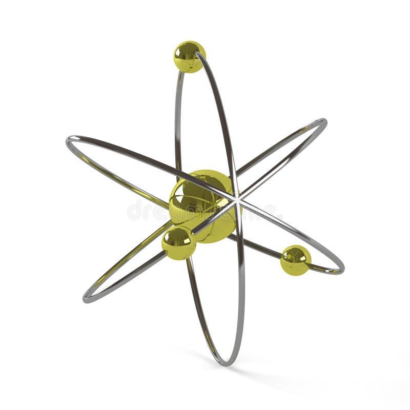 O modelo atômico planetário, 3D rende imagem de stock