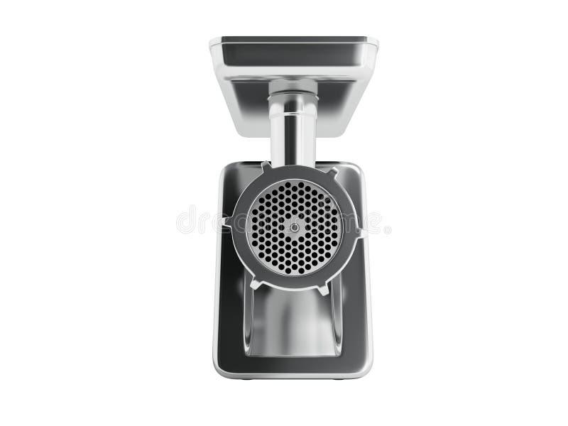 O moedor bonde do metal moderno com a embalagem preta em 3d dianteiro arranca ilustração do vetor