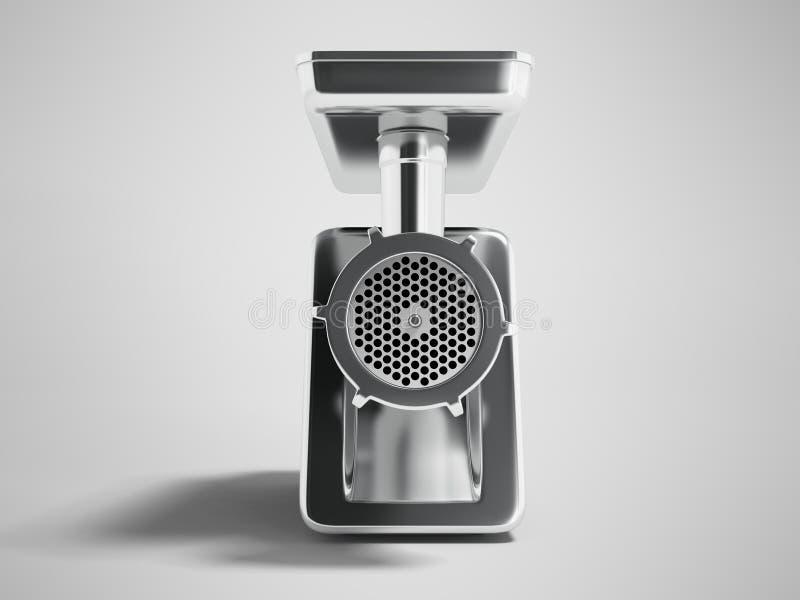 O moedor bonde do metal moderno com a embalagem preta em 3d dianteiro arranca ilustração stock