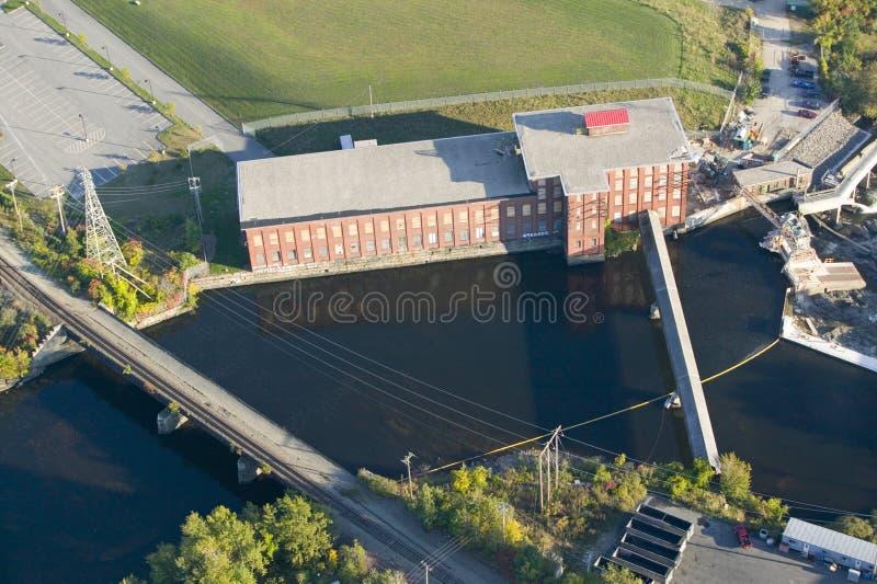 O moinho de matéria têxtil ocidental do ponto-Pepperell em Biddeford, Maine foto de stock royalty free