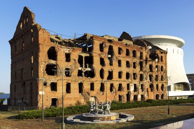 O moinho Gerhardt Volgograd, Rússia fotografia de stock