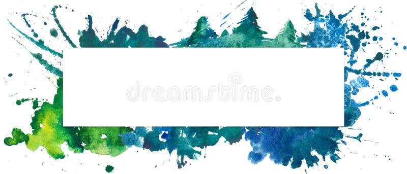 O molde colorido com aquarela espirra, manchas e manchas foto de stock