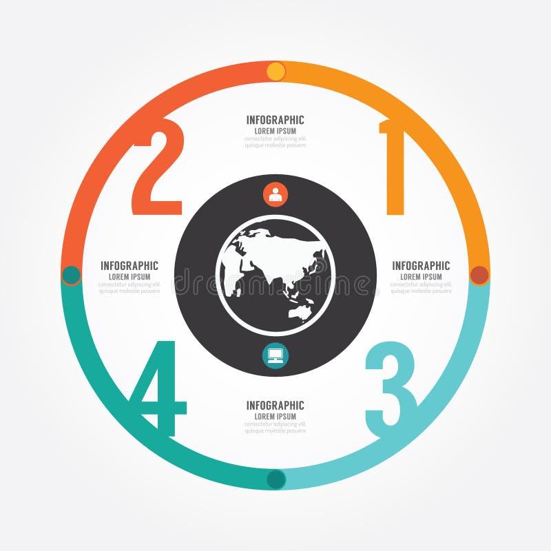 O molde do círculo do projeto moderno/pode ser usado para gráficos da informação ilustração do vetor