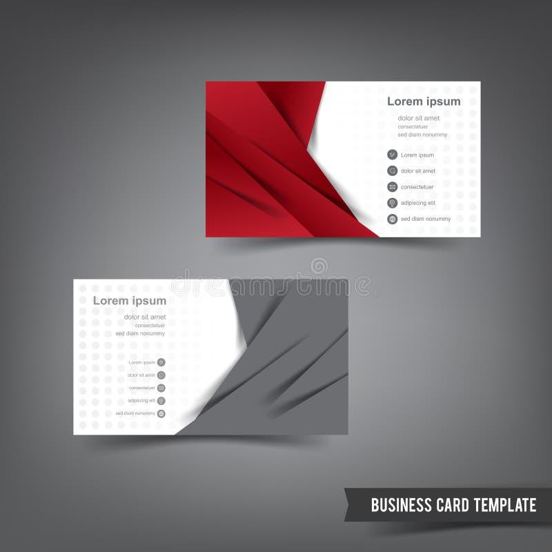 O molde do cartão ajustou 027 overlab vermelho e cinzento da camada ilustração do vetor
