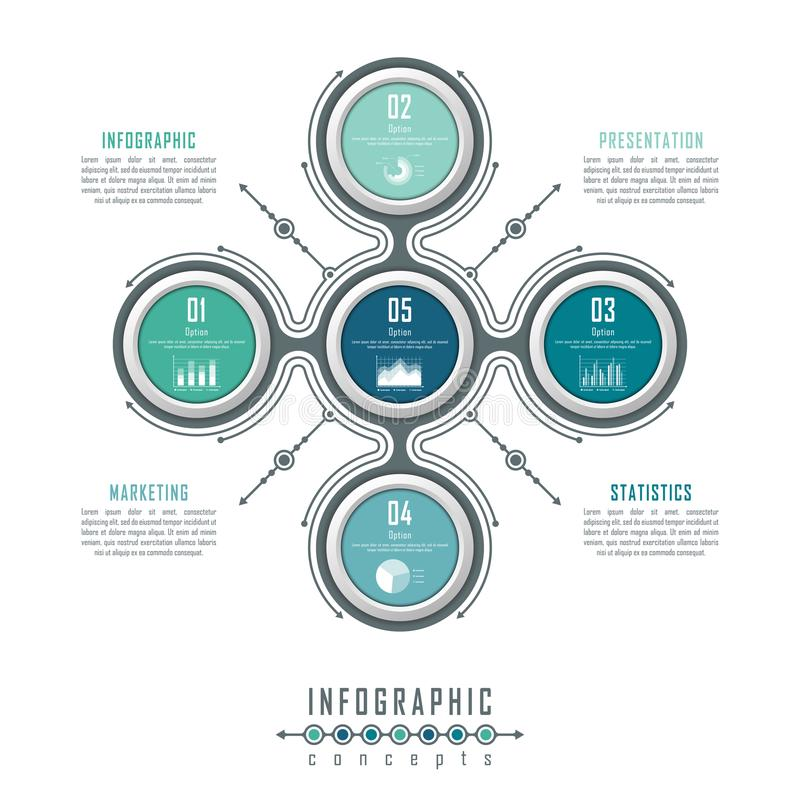 O molde do espaço temporal de Infographic pode ser usado para a carta, diagrama, design web, apresentação, propaganda, história foto de stock