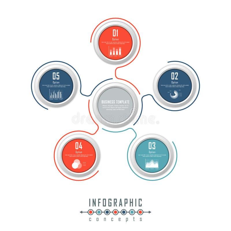 O molde do espaço temporal de Infographic pode ser usado para a carta, diagrama, design web, apresentação, propaganda, história imagens de stock royalty free