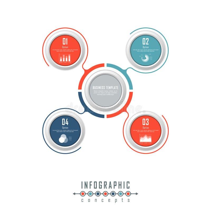 O molde do espaço temporal de Infographic pode ser usado para a carta, diagrama, design web, apresentação, propaganda, história fotos de stock