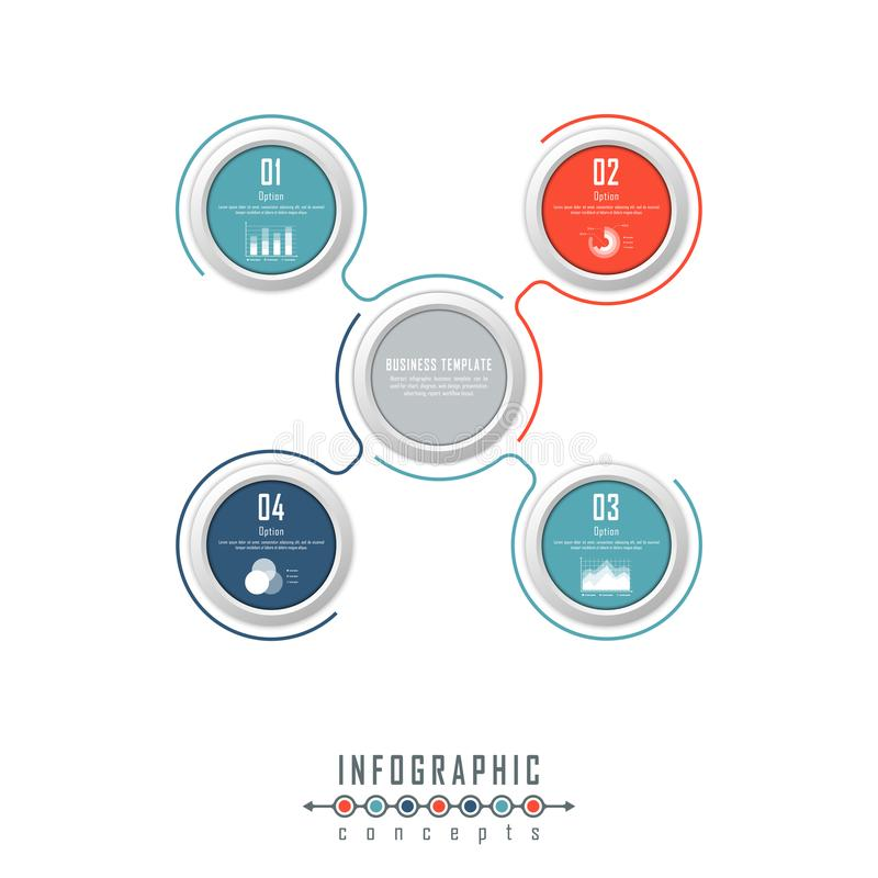 O molde do espaço temporal de Infographic pode ser usado para a carta, diagrama, design web, apresentação, propaganda, história imagem de stock