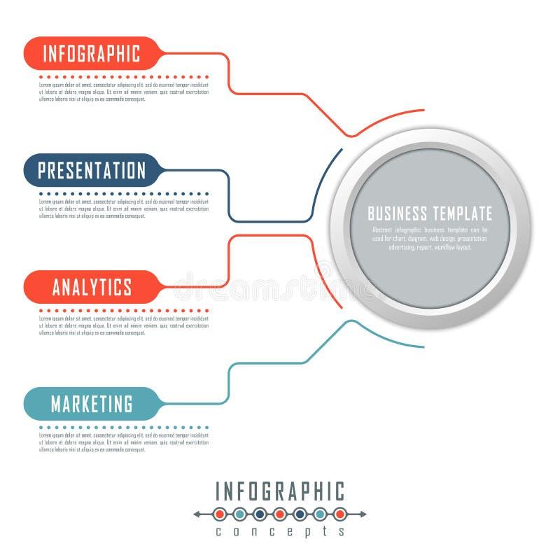 O molde do espaço temporal de Infographic pode ser usado para a carta, diagrama, design web, apresentação, propaganda, história fotografia de stock