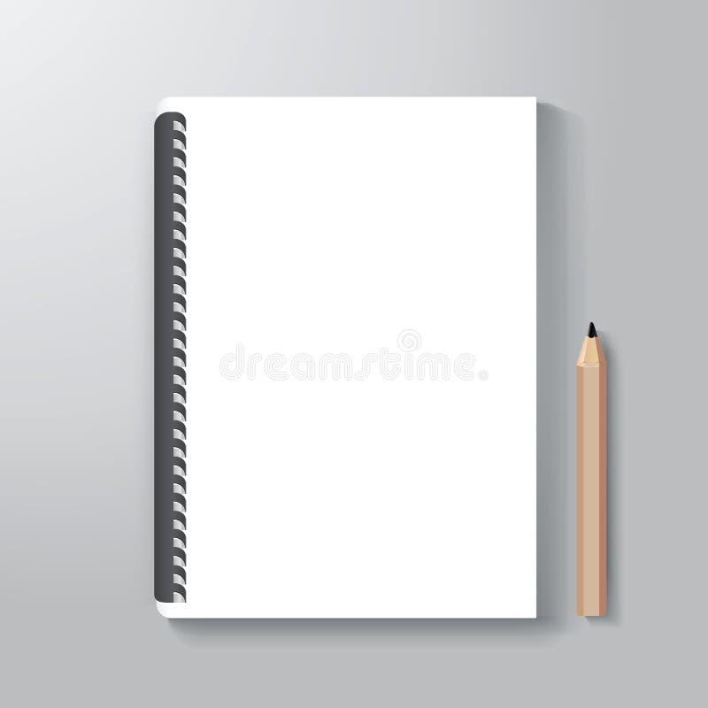 O molde do estilo do projeto da capa do livro/pode ser usado para a tampa de EBook ilustração do vetor
