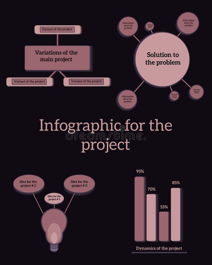 O molde do projeto de Infographic pode ser usado para a disposição dos trabalhos, diagrama, design web Conceito do negócio de Inf imagem de stock