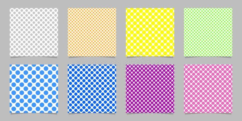 O molde sem emenda do fundo do teste padrão de às bolinhas da cor ajustou - gráficos de vetor dos círculos ilustração do vetor