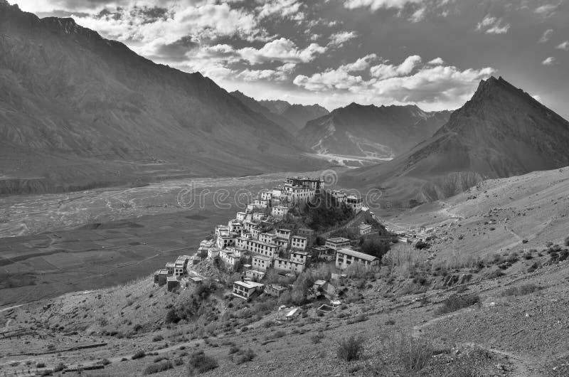 O monastério chave, um monastério budista tibetano situado na Índia fotos de stock