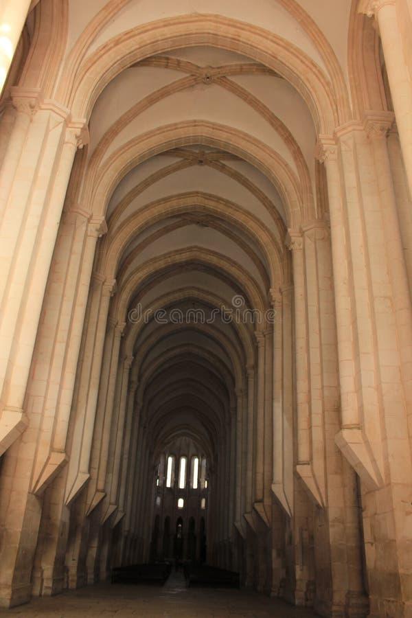 O monastério de Alcobaca, Portugal imagem de stock
