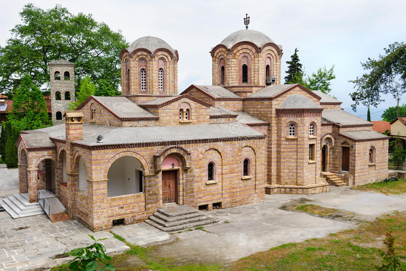 O monastério de Dionysios de Saint, Grécia fotos de stock royalty free