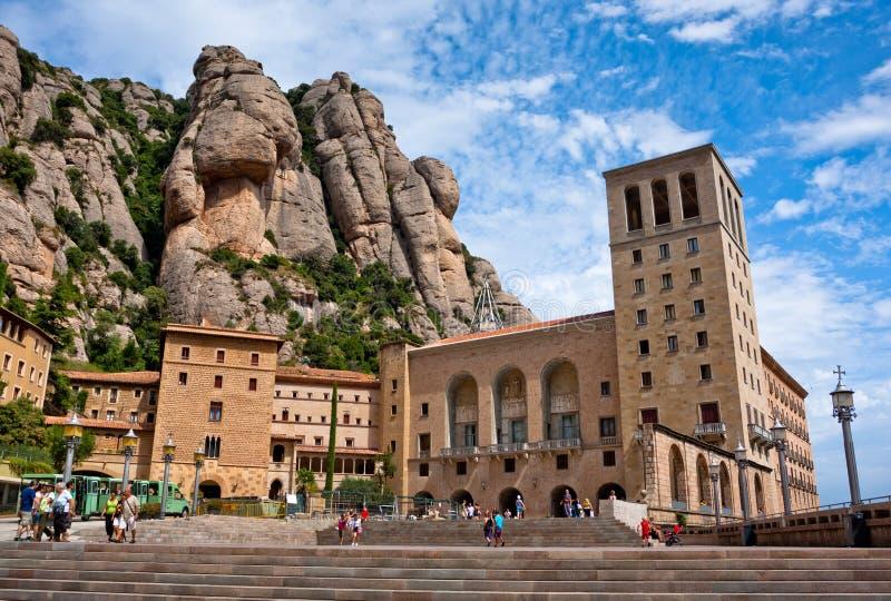 O monastério de Montserrat nas montanhas aproxima Barcelona, Spain imagem de stock royalty free